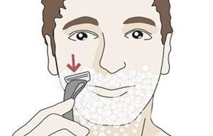 Ilustración de afeitado