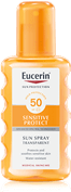 Eucerin Sun Spray Transparent Sensitive Protect FPS 50